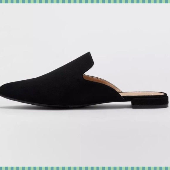 Womens Flats Mules Slip On Pointy Toe